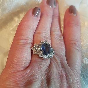 Genuine Iolite Sterling Silver Gemstone Ring